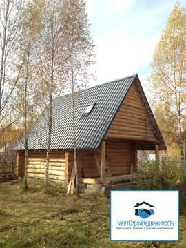 Дом в СНТ из бревна на 9 сотках