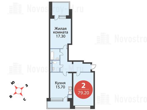 Павловская Слобода, 2-х комнатная квартира, ул. Красная д.д. 9, корп. 68, 8498160 руб.