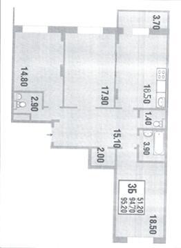 Продается 3-х комнатная квартира в Железнодорожный