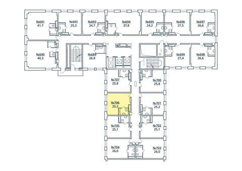 Москва, 1-но комнатная квартира, ул. Радиальная 6-я д.7, к 35, 2850271 руб.