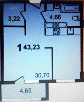 """1-комнатная квартира, 42 кв.м., в ЖК """"Квартал Лукино"""""""
