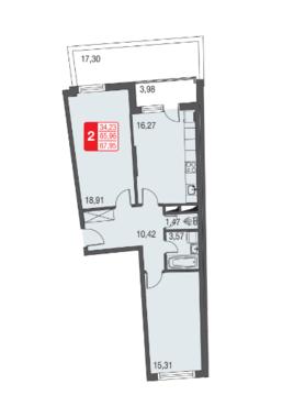 Москва, 2-х комнатная квартира, ул. Живописная д.12, 4518062 руб.
