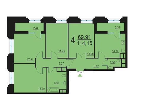 Москва, 4-х комнатная квартира, ул. Берзарина д.28, 22161652 руб.