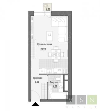 """1-комнатная квартира, 34 кв.м., в ЖК """"JAZZ"""""""