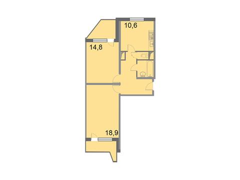 """Продается 2-к. квартира, 62,3 кв.м. в ЖК """"Кварталы 21/19"""""""