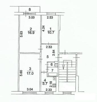 Срочная продажа 3 к квартиры в Балашихе, Карбышева, д. 27, 61,6 кв.м