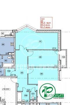 """Предлагаем купить трехкомнатную квартиру в строящемся доме в ЖК """"Андер"""