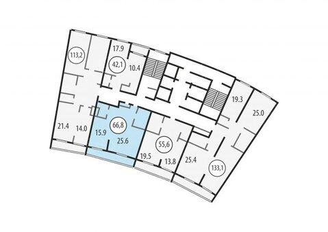 """1-комнатная квартира, 67 кв.м., в ЖК """"Розмарин"""""""