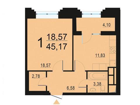 Москва, 1-но комнатная квартира, ул. Берзарина д.28, 8669207 руб.