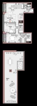 """2-комнатная квартира, в Элитный дом """"РЕНОМЭ"""""""