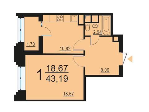 Москва, 1-но комнатная квартира, ул. Берзарина д.28с3, 8376398 руб.