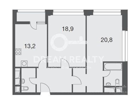 """2-комнатная квартира, 74 кв.м., в ЖК """"1147"""""""