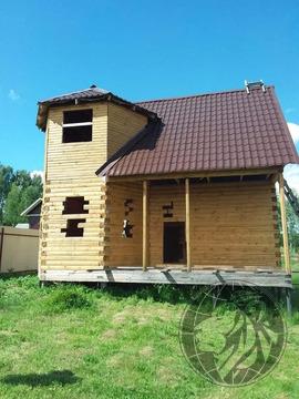 Двухэтажный брусовой дом 90 м.кв. Можайск, д. Бурцево, река Искона