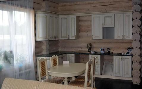 Новый дом из бревна под ключ в Рыжово - деревне возле большого озера.