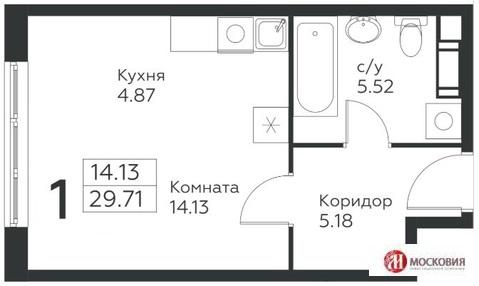 Студия 30м2, прописка Москва. Калужское шоссе, вблизи метро.