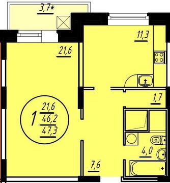 1-я квартира в Балашиха, Железнодорожный, микрорайон Ольгино.