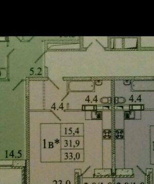 1-комнатная квартира, 33 кв.м., в ЖК «Лукино-Варино»