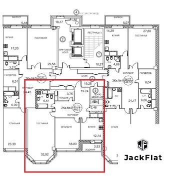 2-комнатная квартира, 104 кв.м., в ЖК Royal House on Yauza