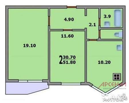 Cдаётся 2-хкомнатная квартира в новом доме