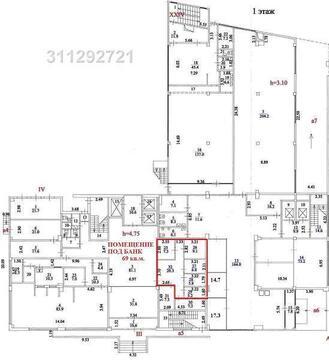 1 этаж – 69.0 кв.м. Арендная ставка: по запросу, усно Кабинетная плани