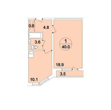 Видовая 1-к квартира улучшенной планировки в лучшем ЖК