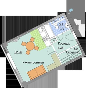 Просторная 1-комнатная в Мытищах