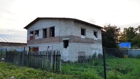 Участок ИЖС в Дубне, коммуникации по границе, недостроенный дом