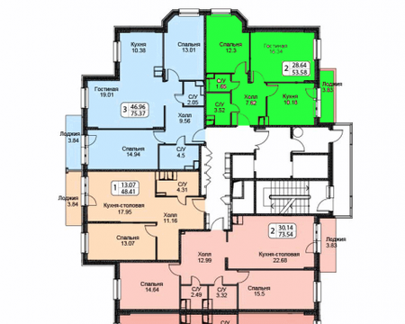 Продажа 2-х комнатной квартиры в ЖК Октябрь, 12 км от МКАД