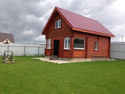 Новый дом из бревна вблизи д. Андреевское, с. Борисово, Можайский р-н