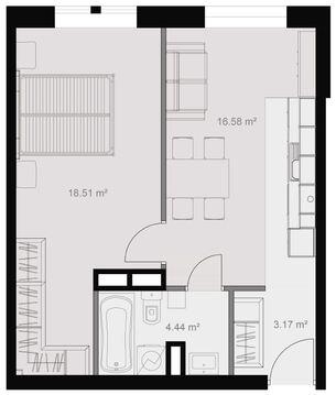 Москва, 1-но комнатная квартира, Кронштадтский б-р. д.6к1, 8240400 руб.