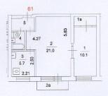 2-комнатная квартира на Новочеремушкинской