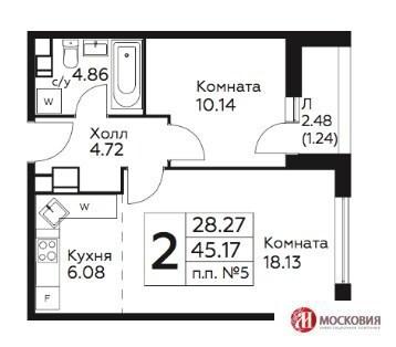 Москва, 2-х комнатная квартира, ул. Академика Семенова д.93, 3800000 руб.