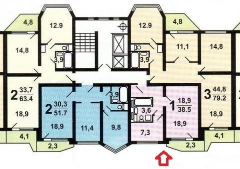 """1-комнатная квартира, 38 кв.м., в ЖК """"Некрасовка Парк"""""""