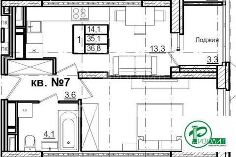 Долгопрудный, 1-но комнатная квартира, Новый бульвар д.14, 3090000 руб.