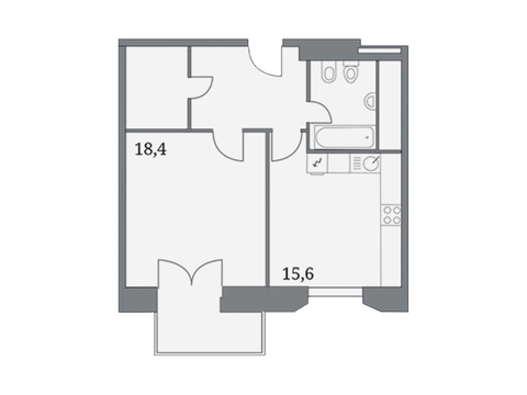 """Продается 1-к. квартира, 52,8 кв.м. в ЖК """"Клубный дом на Серпуховском ."""