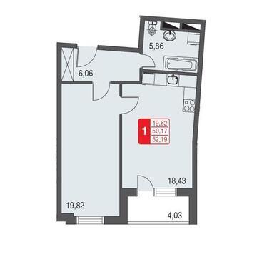 Москва, 1-но комнатная квартира, ул. Живописная д.12, 3334826 руб.