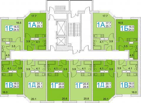 Красноармейск, 1-но комнатная квартира, ул. Морозова д.23А, 1300000 руб.