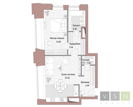 """2-комнатная квартира, 60 кв.м., в Элитный дом """"РЕНОМЭ"""""""