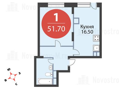 Павловская Слобода, 1-но комнатная квартира, ул. Красная д.д. 9, корп. 56, 4665925 руб.
