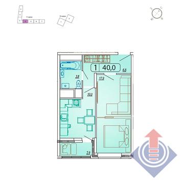 """1-комнатная квартира, 40 кв.м., в ЖК """"Отрадный"""" (г. Мытищи)"""