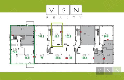"""3-комнатная квартира, 63 кв.м., в ЖК """"Парк Мира"""""""