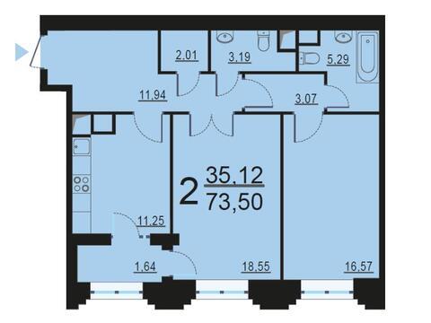 Москва, 2-х комнатная квартира, ул. Берзарина д.28, 13809842 руб.
