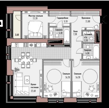 Москва, 3-х комнатная квартира, ул. Новослободская д.24, 53010000 руб.