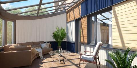 2-х уровневая квартира-студия 104,80 кв.м. в ЖК Два дома 20&20
