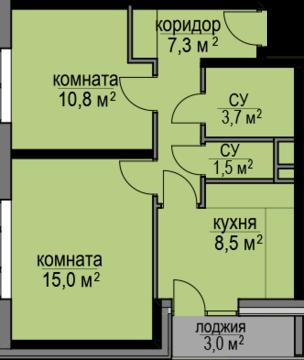 2 к.кв ЖК Светолюбова д 2 к 1