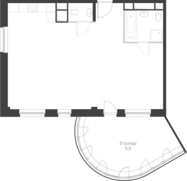 2-комнатная квартира, 75 кв.м., в Два дома 20&20