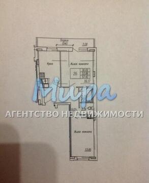 Продается 2-х комнатная квартира 60,0 кв.м на 3 этаже 17-ти этажного