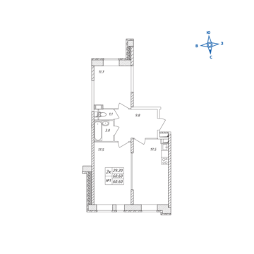 Люберцы, 2-х комнатная квартира, ул. Барыкина д., 4884966 руб.