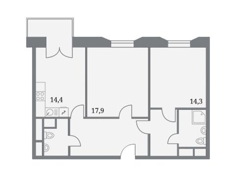 """Продается 2-к. квартира, 73 кв.м. в ЖК """"Клубный дом на Серпуховском ."""