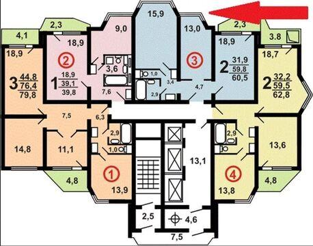 2-комнатная квартира, 65 кв.м., в ЖК «Бутово-Парк 2Б»